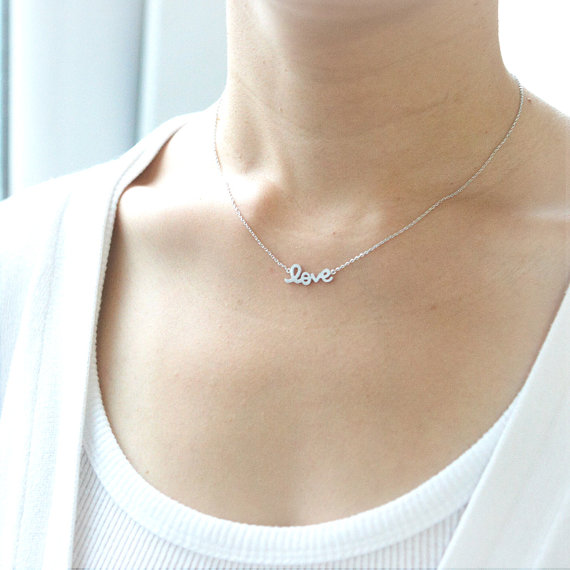 Collar love plata