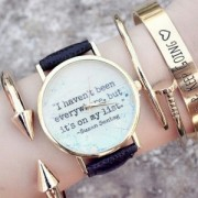 "Reloj ""I haven't been everywhere, but it's on my list"""