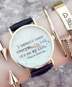 """Reloj """"I haven't been everywhere, but it's on my list"""""""