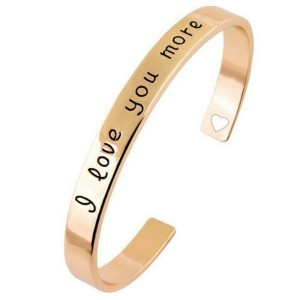 Pulsera i love you oro rosado