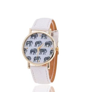 Reloj mujer elefante blanco negro